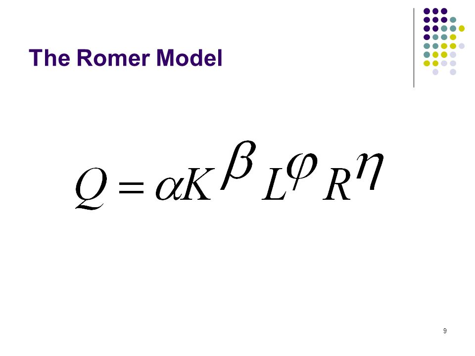 9 The Romer Model