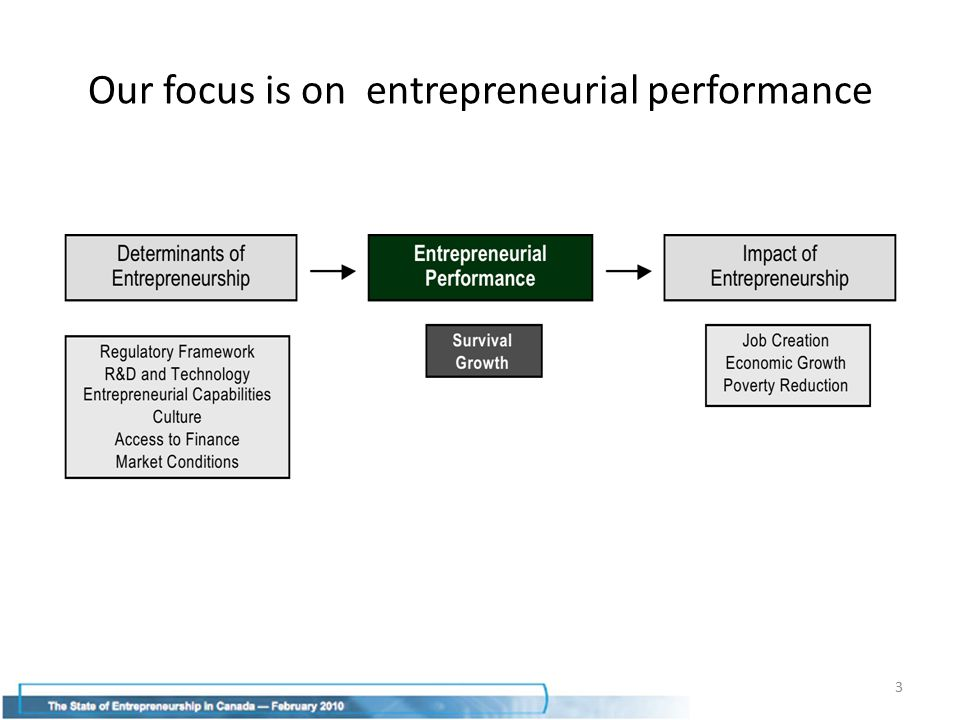 Final thoughts Is this report consistent with other assessments of the state of entrepreneurship in Canada.