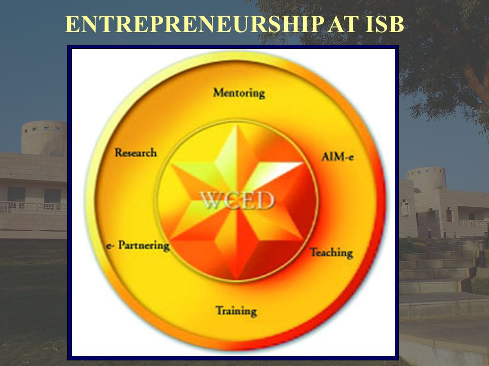 ENTREPRENEURSHIP AT ISB