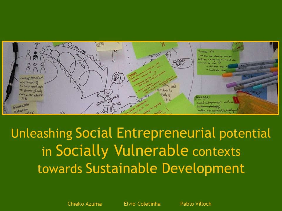 IntroductionPurposeScopeQuestionsMethodsNext StepsFeedback Social Entrepreneurs Methods