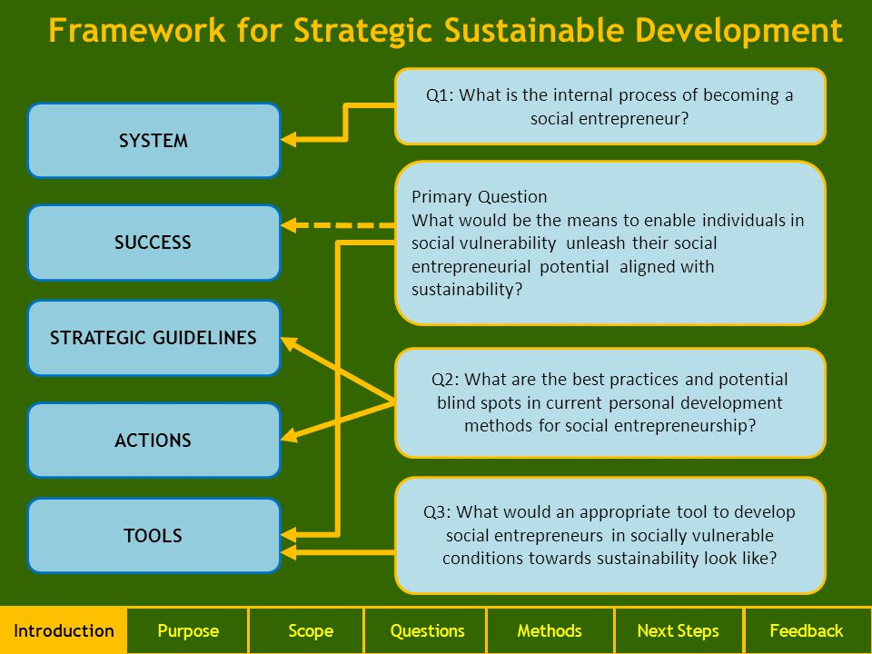 SYSTEM SUCCESS STRATEGIC GUIDELINES ACTIONS TOOLS Q2: What are the best practices and potential blind spots in current personal development methods for social entrepreneurship.