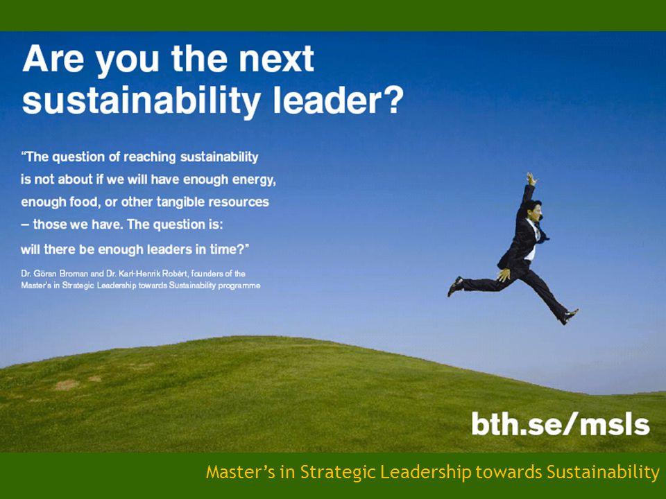 Master's in Strategic Leadership towards Sustainability
