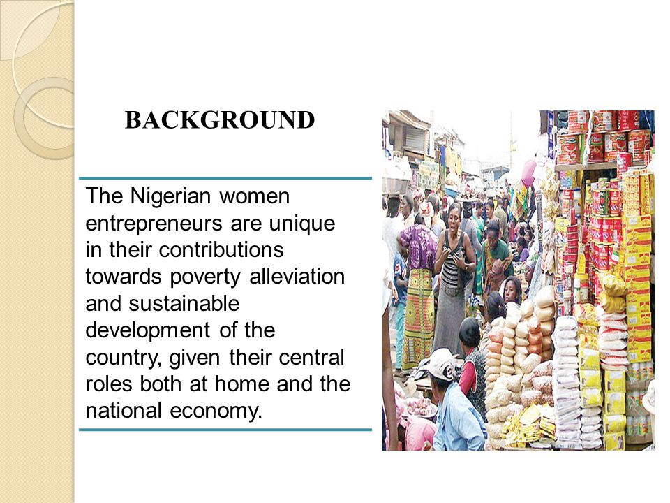 Table 4: Weighted mean and t-test of the responses of experienced and inexperienced women entrepreneurs regarding factors militating against the success of women entrepreneurs in Nigeria S/N Factors militating against the success of women entrepreneurs in Nigeria Meanst-valueRemarks ExperiencedInexpe- rienced 1.Poor finance/start-up capital3.93.80.99NS 2.Low career entry expectation3.7 1.01NS 3.Lack of entrepreneurial experience3.33.21.11NS 4.Poor education2.82.61.21NS 5.Legal problems3.6351.06NS 6.Poor motivation3.43.31.03NS 7.Household chores2.62.81.19NS 8.High level of competition3.53.41.01NS 9.Relations with clients and employees2.22.11.51NS 10.Marketing problems2.32.41.82NS N 1 = 67; N 2 = 53; df = 118; t-cri = 1.96; Average t-cal = 1.19; S = Significant; NS = Not Significant