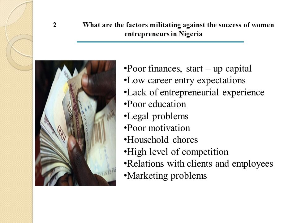 METHODOLOGY  The population consisted of 1120 women entrepreneurs in the Niger Delta region of Nigeria.