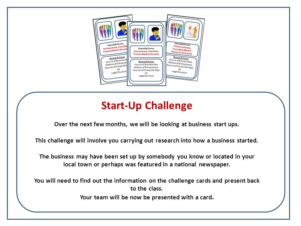 Challenge Guide How you should work, individually or as a group Your presentation style Essential Terms, these must be included as part of your presentation and clearly defined to show good knowledge (AO1, Content) Research Focus You should aim to find out and include these points.