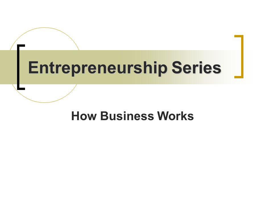 Entrepreneurship Series How Business Works