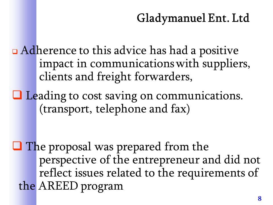 9 Gladymanuel Ent.Ltd cont.