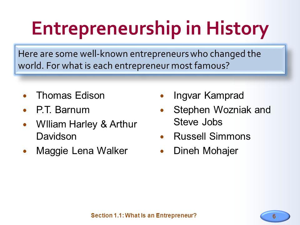 6 Entrepreneurship in History Thomas Edison P.T.