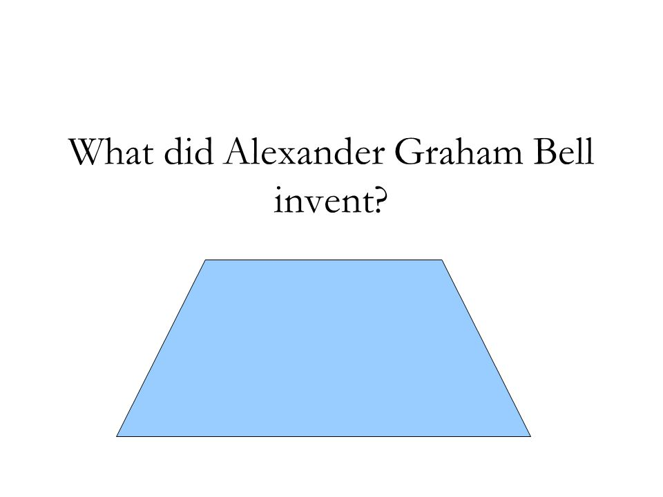 What did Alexander Graham Bell invent? The first working telephone