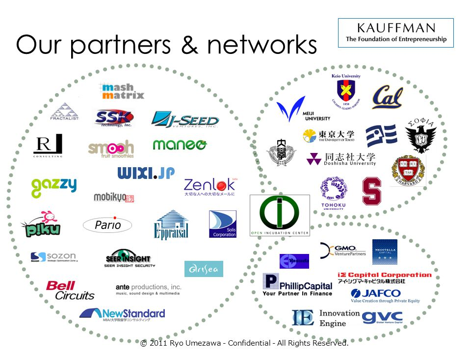 Our partners & networks © 2011 Ryo Umezawa - Confidential - All Rights Reserved.