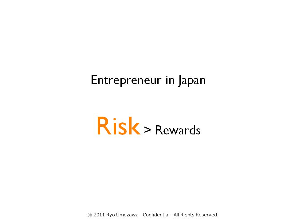 High Personal Risk © 2011 Ryo Umezawa - Confidential - All Rights Reserved.