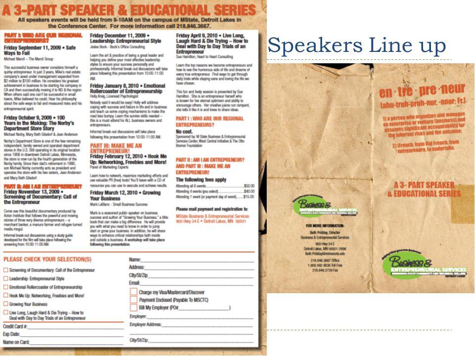 Speakers Line up 14