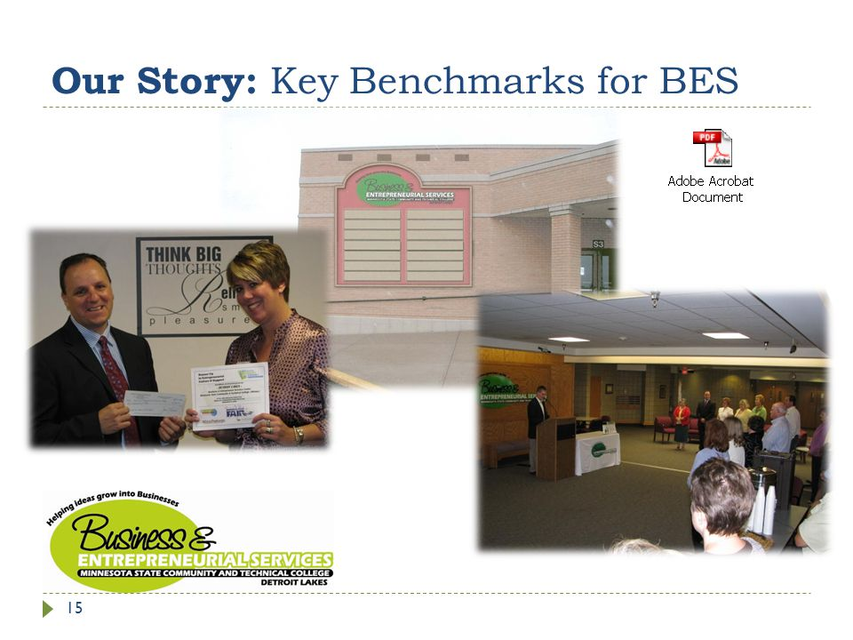 Our Story: Key Benchmarks for BES 15