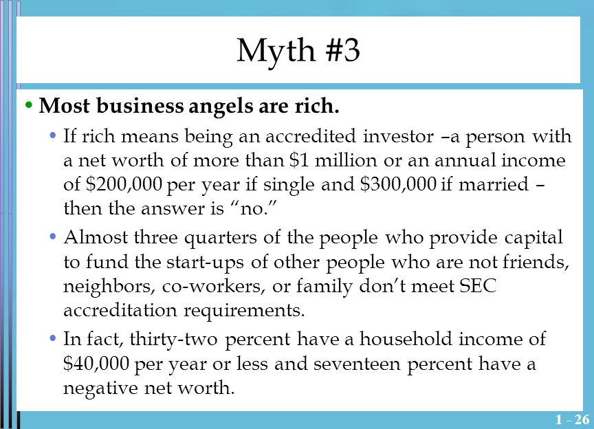 1 - 27 Myth #4 Start-ups can't be financed with debt.