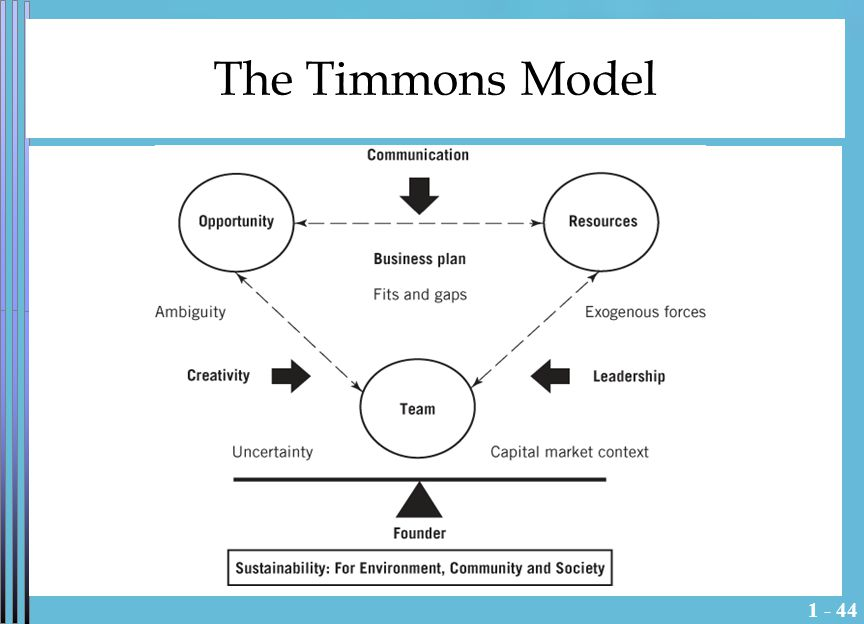 1 - 44 The Timmons Model