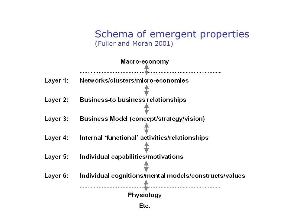 Schema of emergent properties (Fuller and Moran 2001)