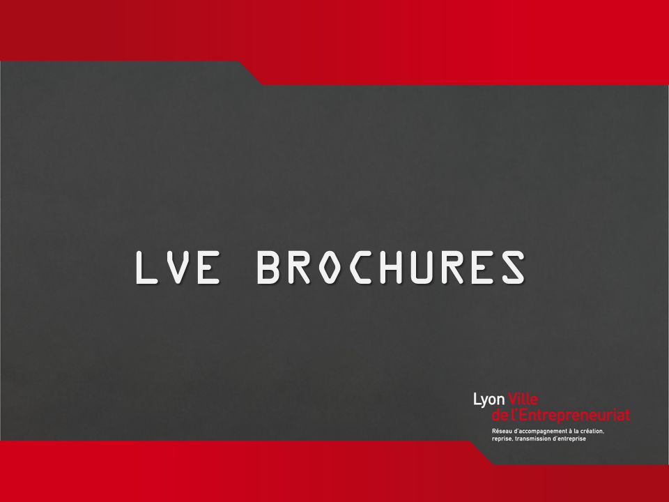 www.lyon-ville- entrepreneuriat.org LVE BROCHURES