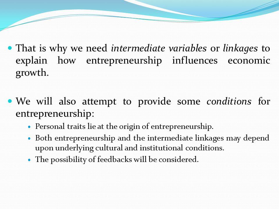 2.Economic literature on entrepreneurship 2.1.