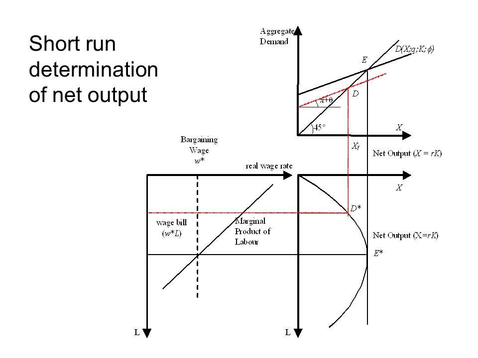 Short run determination of net output