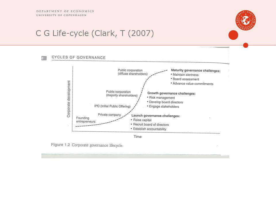 C G Life-cycle (Clark, T (2007)