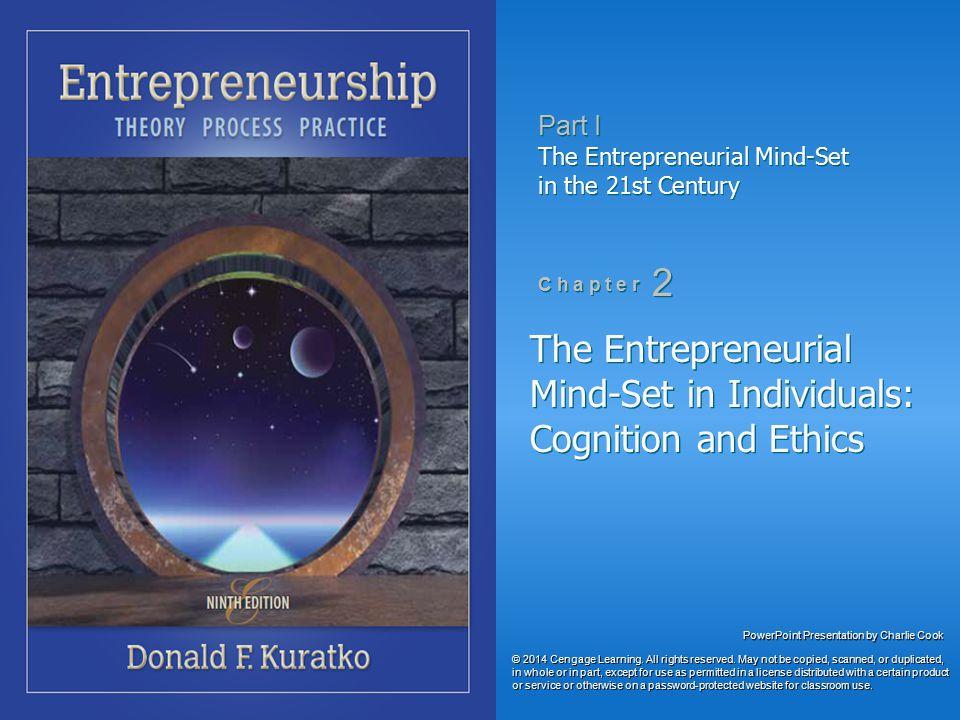 Entrepreneurship Theory Entrepreneurs cause entrepreneurship.