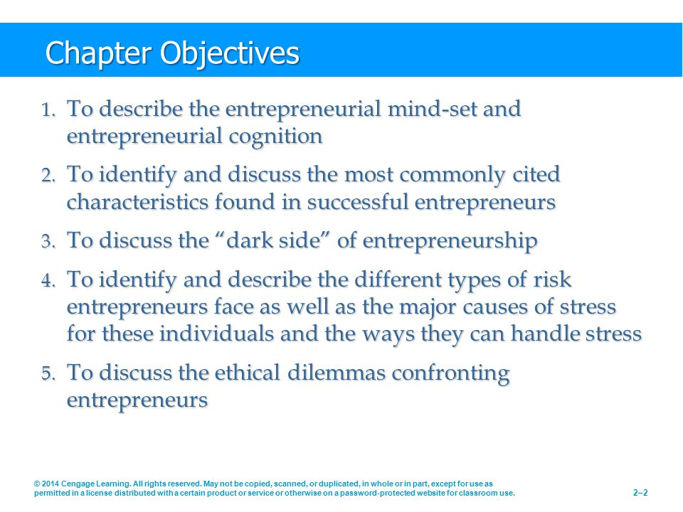 Chapter Objectives (cont'd) 6.