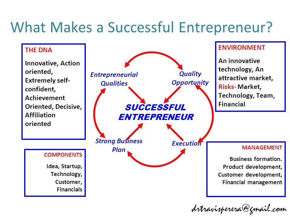 What Makes a Successful Entrepreneur.
