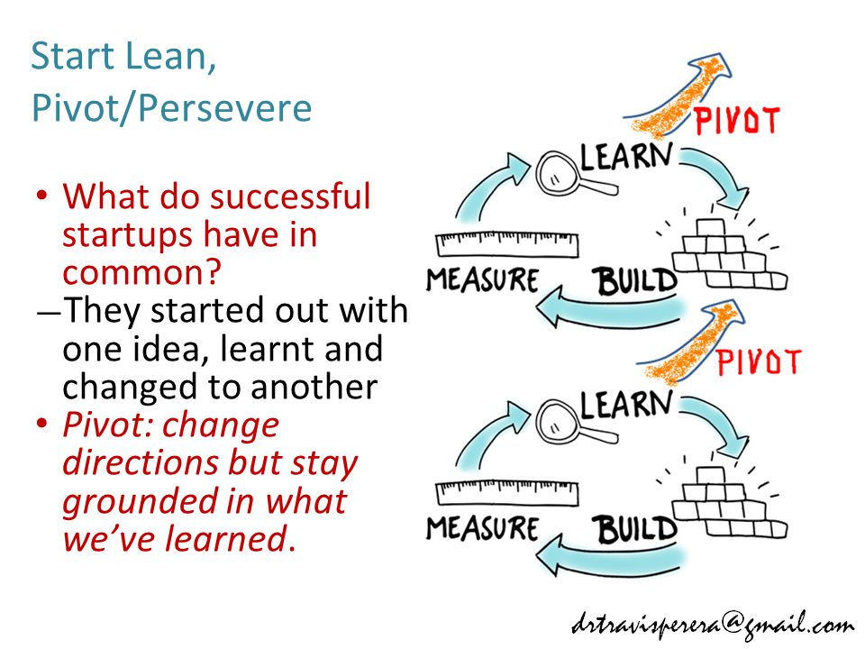 Start Lean, Pivot/Persevere What do successful startups have in common.