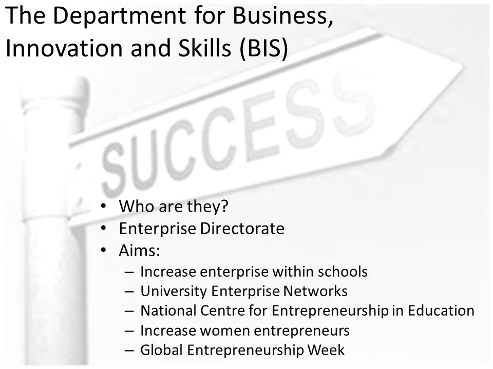 The Department for Business, Innovation and Skills (BIS) Who are they.