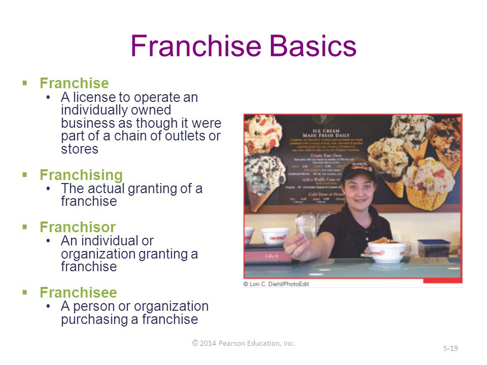 Franchise Basics © 2014 Pearson Education, Inc.