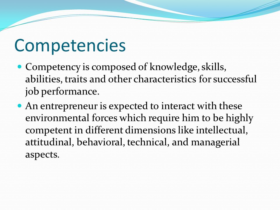 Social skill Social skill of entrepreneurs include social perception (the ability to perceive others accurately), expressiveness (the ability to express feelings and reactions clearly and openly), impression management (skill in making favorable first impressions on others), and social adaptability (proficiency in adapting one's actions to current social contexts) in the process of managing his business.