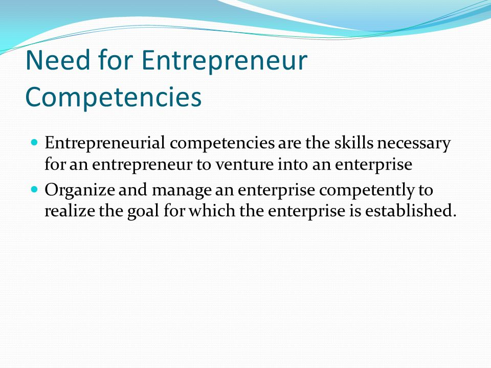 Other Competencies Opportunity competencies : Competencies related to recognizing and developing market opportunities through various means.