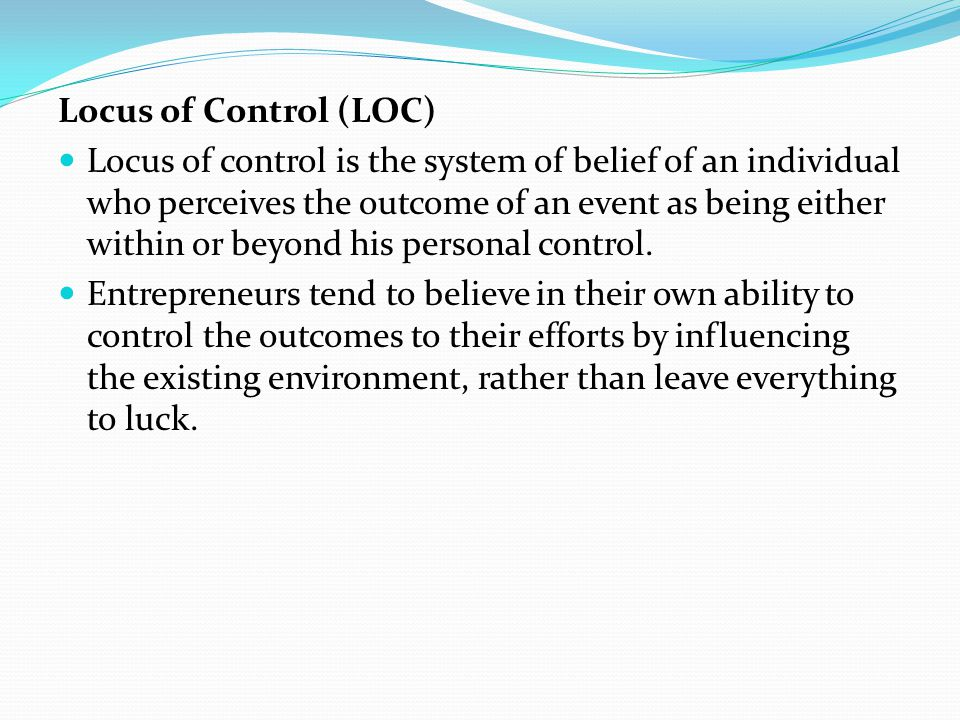 BEHAVIORAL COMPETENCY ATTRIBUTES Behavioral competency of an entrepreneur refers to the underlying charecteristics having casual relationship with effective or superior performances in the process of carrying on his business activities.