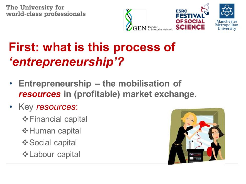First: what is this process of 'entrepreneurship'.