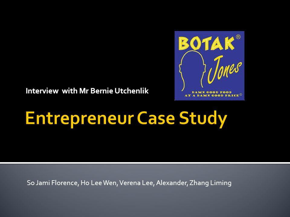 Interview with Mr Bernie Utchenlik So Jami Florence, Ho Lee Wen, Verena Lee, Alexander, Zhang Liming