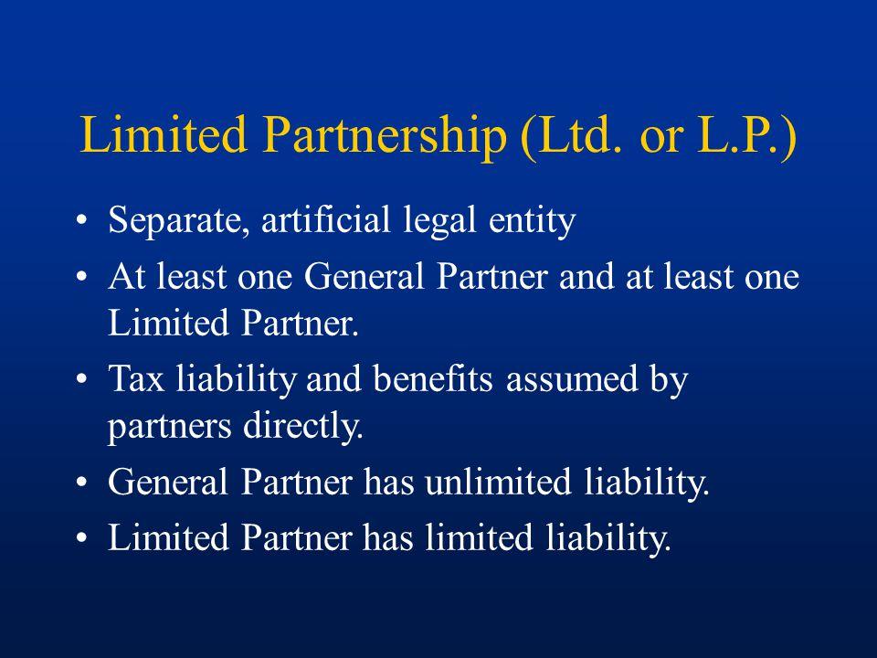 Limited Partnership (Ltd.