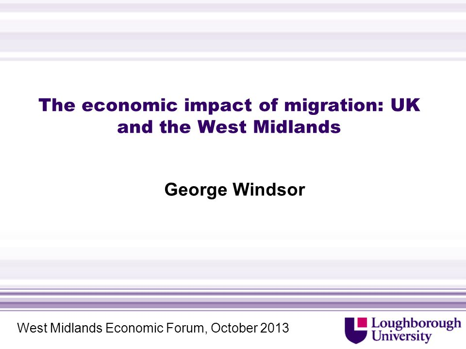 West Midlands and Birmingham (5)  Highly skilled migration and the proliferation of Creative Industries in Birmingham  'The research confirms that 'hard' economic factors (career and employment opportunities; education and universities; cost of living and affordability of housing) play a key role in the decision of individuals to come to the Birmingham city-region and these factors are more influential in comparison with soft 'quality of life' factors in attracting talent.' (Brown et al.