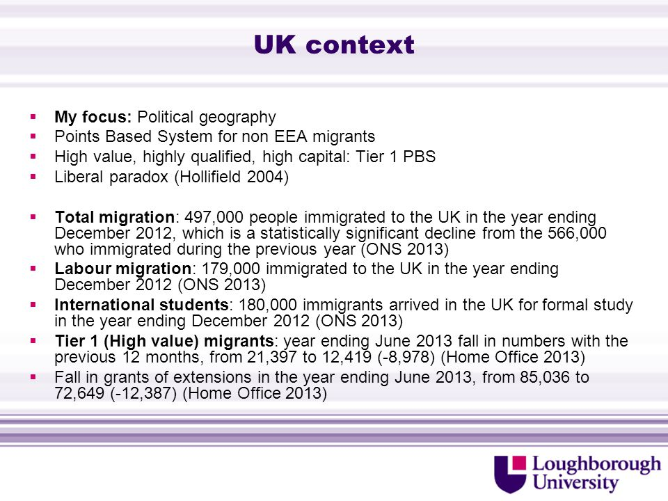 West Midlands (1)  Migration: In 2010, international migration resulted in a net increase of 13,000 people in the region.