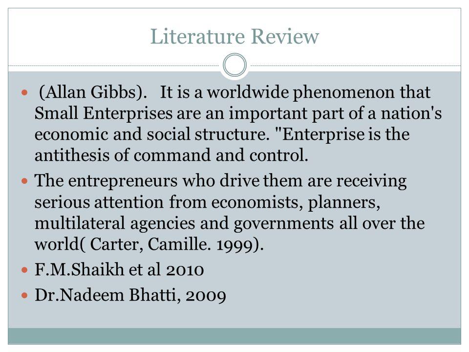 Literature Review (Allan Gibbs).