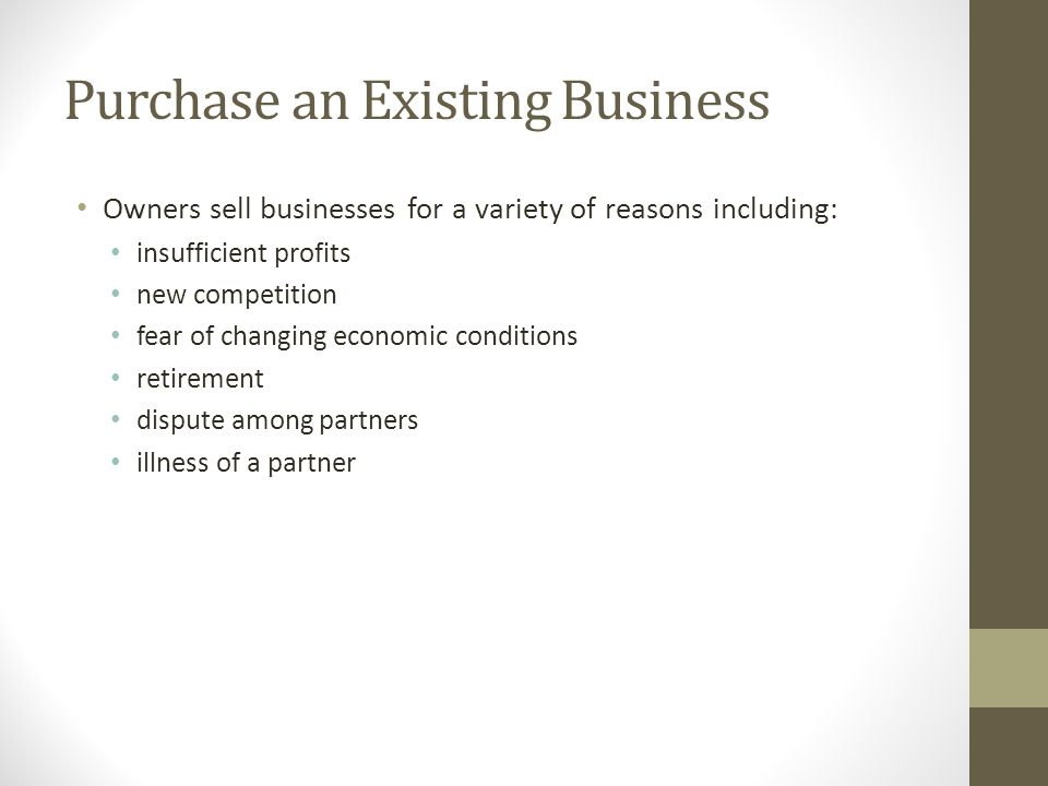 Advantages of Owning a Franchise An entrepreneur is provided with an established product or service.