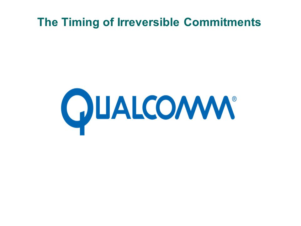 The Timing of Irreversible Commitments