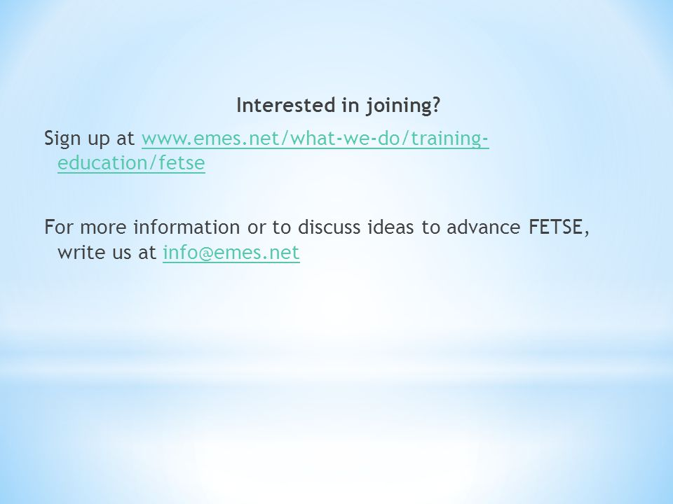 Interested in joining.