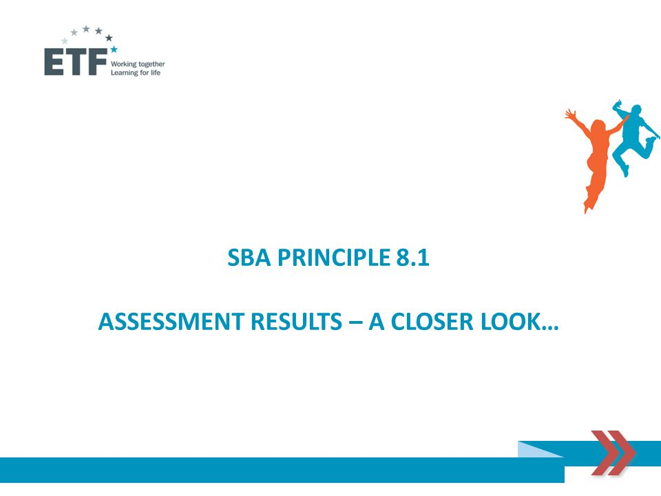 SBA PRINCIPLE 8.1 ASSESSMENT RESULTS – A CLOSER LOOK…