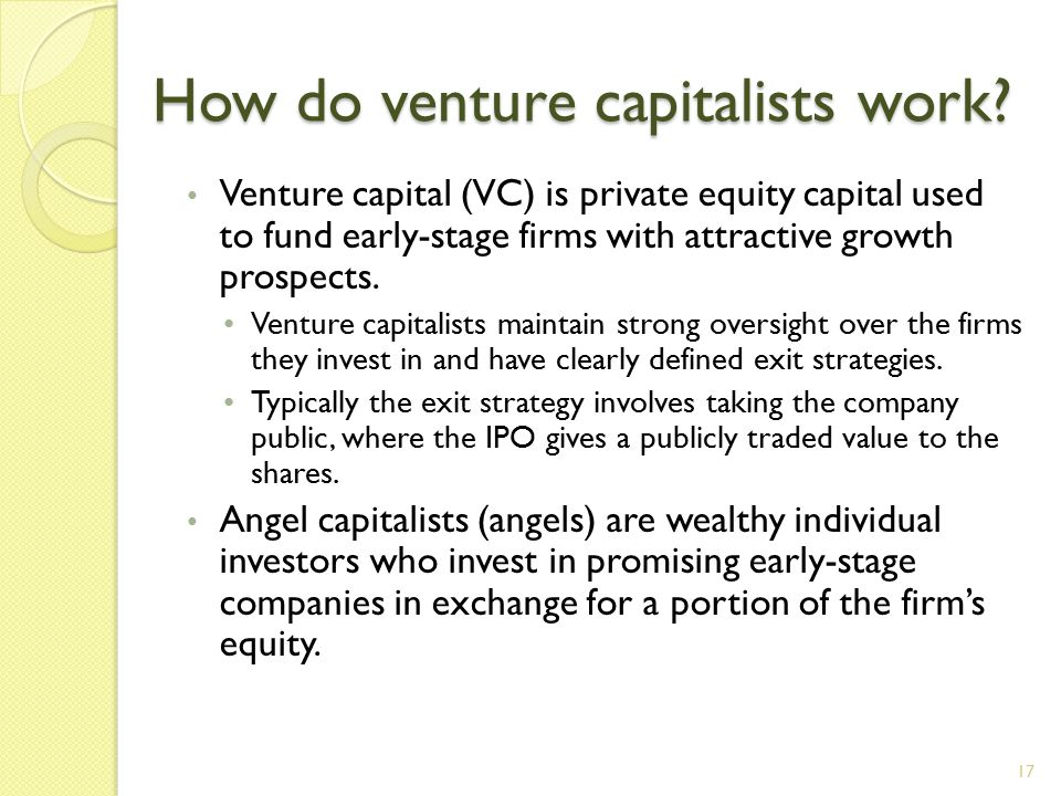 How do venture capitalists work.