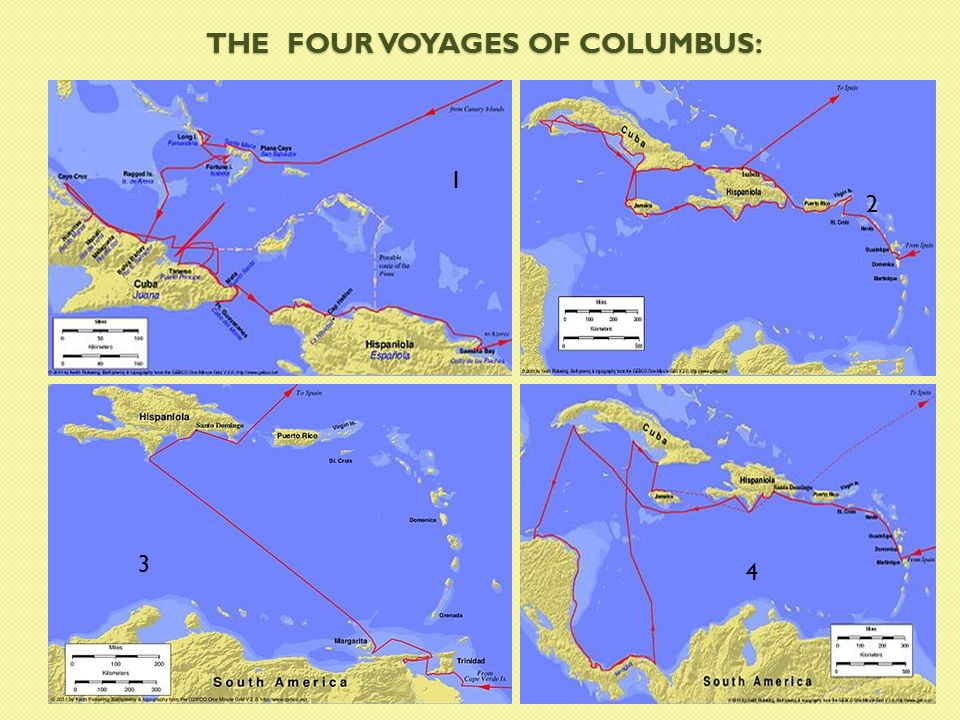 THE FOUR VOYAGES OF COLUMBUS: 1 2 3 4 29