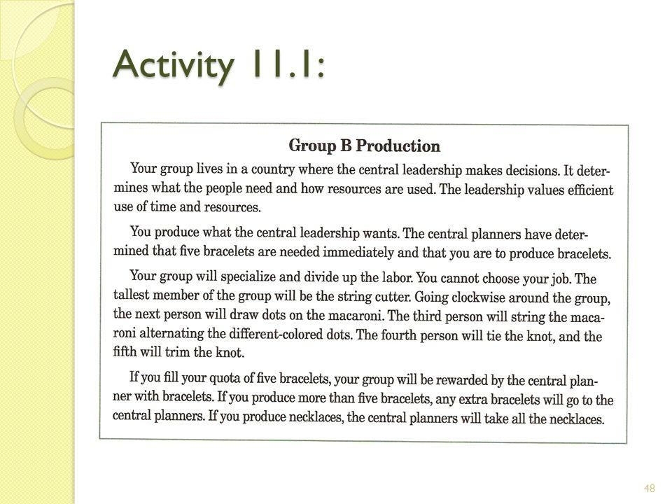 Activity 11.1: 48