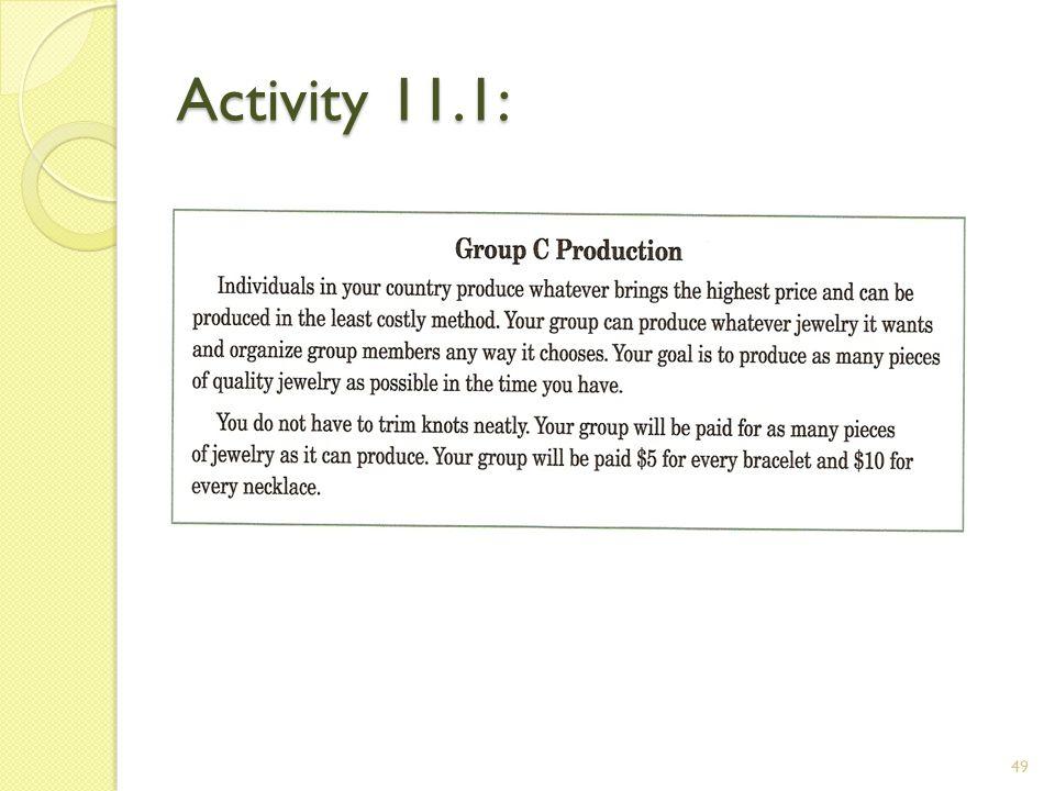 Activity 11.1: 49