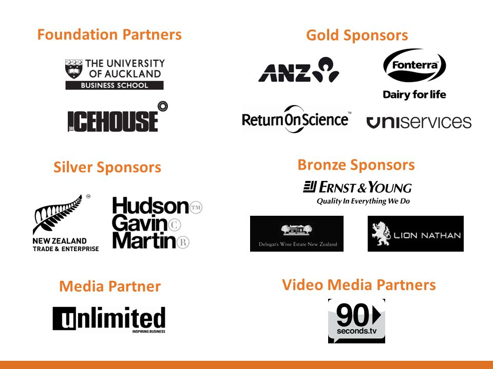 Foundation Partners Gold Sponsors Silver Sponsors Bronze Sponsors Media Partner Video Media Partners