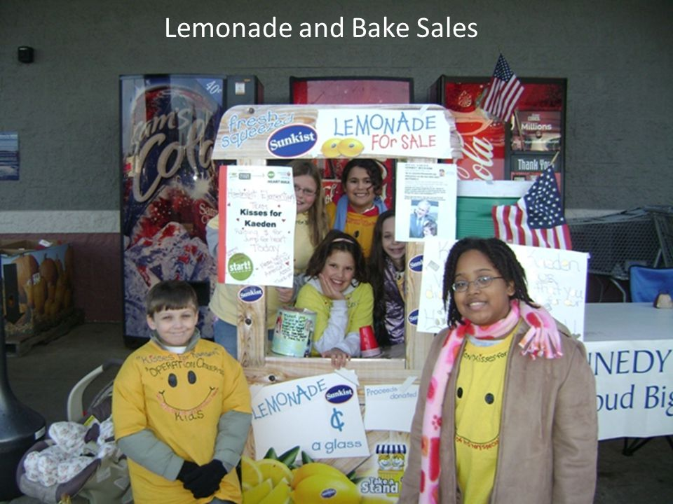 Lemonade and Bake Sales