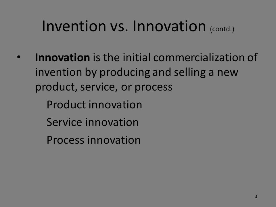 Incremental Innovation Incremental innovation refers to simple changes or adjustments in existing – products – services – or processes 5